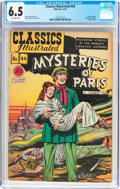Golden Age (1938-1955):Classics Illustrated, Classics Illustrated #44 Mysteries of Paris (Gilberton, 1947) CGC FN+ 6.5 Off-white pages....