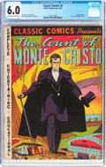 Golden Age (1938-1955):Classics Illustrated, Classic Comics #3 The Count of Monte Cristo -Original Edition (Gilberton, 1942) CGC FN 6.0 Off-white to white pages....