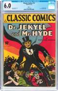 Golden Age (1938-1955):Classics Illustrated, Classic Comics #13 Dr. Jekyll and Mr. Hyde - Original Edition(Gilberton, 1943) CGC FN 6.0 Off-white to white pages....