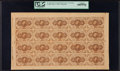 Fractional Currency:First Issue, Fr. 1230 5¢ First Issue Full Sheet of Twenty PCGS Gem New 66PPQ.. ...