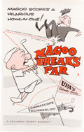 Animation Art:Poster, Magoo Breaks Par Movie Poster (UPA, 1957)....