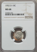Roosevelt Dimes, 1952-D 10C MS68 NGC. NGC Census: (3/0). Mintage 122,100,000. ...