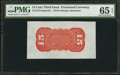 Fractional Currency:Third Issue, Fr. 1273-5SP Wide Margin Red Back PMG Gem Uncirculated 65 EPQ.. ...