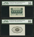 Fractional Currency:First Issue, Fr. 1313SP 50¢ First Issue Wide Margin Pair PMG About Uncirculated55 EPQ and Gem Uncirculated 66 EPQ.. ... (Total: 2 notes)