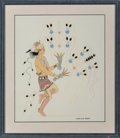 American Indian Art, Harrison Begay, Navajo (1917 - 2012). Untitled... (Total: 2 )