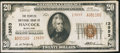 National Bank Notes:Maryland, Hancock, MD - $20 1929 Ty. 2 The Peoples NB Ch. # 13853. ...