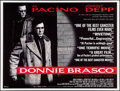 "Movie Posters:Crime, Donnie Brasco (Entertainment, 1997). British Quad (30"" X 40"").Crime.. ..."