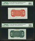Fractional Currency:Third Issue, Fr. 1272SP/1273-75 15¢ Third Issue Wide Margin Backs PMG Graded.. ... (Total: 2 notes)