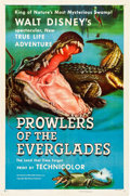 Memorabilia:Poster, Prowlers of the Everglades One Sheet Movie Poster (WaltDisney/RKO, 1953)....
