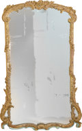 Decorative Arts, Continental:Other , An Italian Rococo-Style Partial Gilt and Polychrome Wood PierMirror, 19th century. 67 inches high x 41 inches wide (170.2 x...