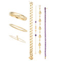 Estate Jewelry:Bracelets, Amethyst, Gold Bracelets. . ... (Total: 7 Items)
