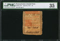 Colonial Notes:Pennsylvania, Pennsylvania April 10, 1775 £5 PMG Choice Very Fine 35.. ...