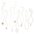 Estate Jewelry:Necklaces, Diamond, Yellow Sapphire, Gold Pendant-Necklaces. ... (Total: 8 Items)