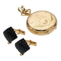 Estate Jewelry:Lots, Diamond, Black Onyx, Gold Jewelry. ... (Total: 3 Items)