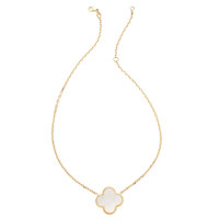 Mother-of-Pearl, Gold Necklace