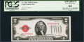 Small Size:Legal Tender Notes, Fr. 1501 $2 1928 Legal Tender Note. Missing Back Plate Number. PCGS Apparent Very Choice New 64.. ...
