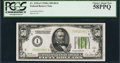 Small Size:Federal Reserve Notes, Fr. 2101-I $50 1928A Federal Reserve Note. PCGS Choice About New 58PPQ.. ...