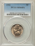 Jefferson Nickels, 1952 5C MS64 Full Steps PCGS. PCGS Population: (10/13). ...