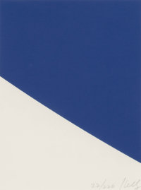 Ellsworth Kelly (American, 1923-2015) Blue Curve, 1999 One-color lithograph on Rives BFK paper 8