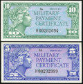 Military Payment Certificates:Series 611, Series 611 5¢ and 10¢ Replacements.. ... (Total: 2 notes)