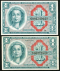Military Payment Certificates:Series 611, Series 611 $1 Replacement and $1 Regular.. ... (Total: 2 notes)