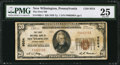 National Bank Notes:Pennsylvania, New Wilmington, PA - $20 1929 Ty. 1 The First NB Ch. # 9554. ...