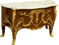 Furniture , A Very Fine Louis XV-Style Gilt Bronze Mounted Parquetry Two-Drawer Commode, after Charles Cressent, 19th century. Marks to ...