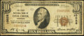 National Bank Notes:Tennessee, Coal Creek, TN - $10 1929 Ty. 1 The First NB Ch. # 10028. ...