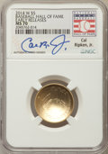 Modern Issues, 2014-W $5 Baseball Hall of Fame Gold Five Dollar, Cal Ripken Jr Signature, Early Release MS70 NGC. NGC Census: (0). PCGS Po...