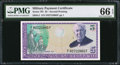 Military Payment Certificates:Series 701, Series 701 $5 PMG Gem Uncirculated 66 EPQ.. ...