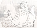 "Animation Art:Concept Art, The Flintstones ""Fred at the Quarry"" Concept Art(Hanna-Barbera, 1990s)...."