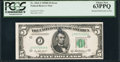 Error Notes:Obstruction Errors, Fr. 1963-J $5 1950B Federal Reserve Note. PCGS Choice New 63PPQ.....