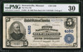 National Bank Notes, Stewartsville, MO - $5 1902 Plain Back Fr. 601 The First NB Ch. #4160. ...