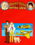 Animation Art:Presentation Cel, Goldie Gold and Action Jack Publicity Cel (Ruby-Spears,1981)....