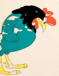 Animation Art:Production Cel, 1940s MGM Rooster Production Cel (MGM Studios, 1940s)....