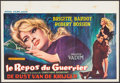 "Movie Posters:Foreign, Love on a Pillow (Royal Films, 1963). Belgian (14.75"" X 21.5""). Foreign.. ..."