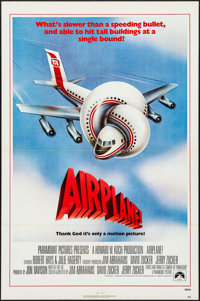 """Airplane! & Other Lot (Paramount, 1980). One Sheet (27"""" X 41"""") & Lobby Card Set of 4 (11"""" X 14&qu..."""
