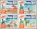 "Movie Posters:Animation, Pecos Bill (RKO, R-1954). Lobby Card Set of 4 (11"" X 14""). Animation.. ... (Total: 4 Items)"