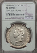Hong Kong :British Colony, Hong Kong : British Colony. Victoria Dollar 1868 AU Details (Surface Hairlines) NGC,...