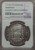 Mexico, Mexico: Charles III 8 Reales 1771 Mo-FM AU Details (ExcessiveSurface Hairlines) NGC,...