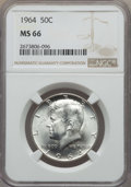 Kennedy Half Dollars, 1964 50C MS66 NGC. NGC Census: (1040/49). PCGS Population:(1378/64). Mintage 273,300,000. ...