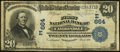National Bank Notes:Pennsylvania, Carbondale, PA - $20 1902 Date Back Fr. 642 The First NB Ch. #(E)664. ...