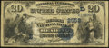 National Bank Notes:Pennsylvania, Reading, PA - $20 1882 Date Back Fr. 555 The Second NB Ch. #(E)2552. ...