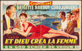 "Movie Posters:Foreign, And God Created Woman (Les Films Triumph, 1960). Trimmed Belgian(13.5"" X 21.25""). Foreign.. ..."