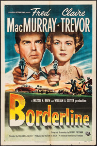 "Borderline & Other Lot (Universal International, 1950). One Sheets (2) (27"" X 41""). Crime. ... (Total:..."