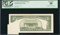 Error Notes:Foldovers, Fr. 1985-L $5 1995 Federal Reserve Note. PCGS Very Fine 30.. ...