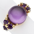 Estate Jewelry:Rings, Amethyst, Gold Ring. . ...