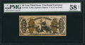 Fractional Currency:Third Issue, Fr. 1344 50¢ Third Issue Justice PMG Choice About Unc 58 Net.. ...