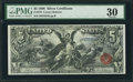Large Size:Silver Certificates, Fr. 270 $5 1896 Silver Certificate PMG Very Fine 30.. ...