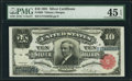 Large Size:Silver Certificates, Fr. 299 $10 1891 Silver Certificate PMG Choice Extremely Fine 45 EPQ.. ...